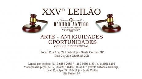 XXVº Leilão de Arte - Antiguidades - Oportunidades