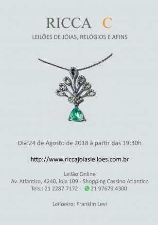 LEILÃO DE  JÓIAS, RELÓGIOS  E AFINS