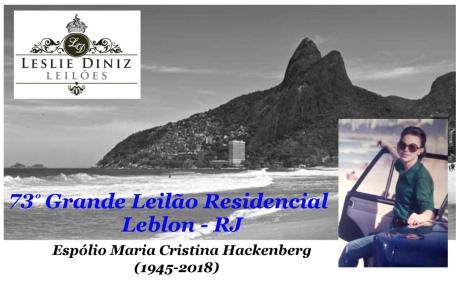 73º LEILÃO RESIDENCIAL NO LEBLON - ESPÓLIO DE Mª CRISTINA HACKENBERG