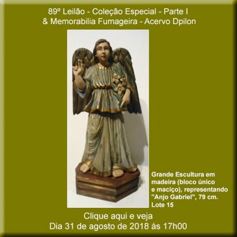 89º  Leilão - COLEÇÃO ESPECIAL - PARTE I & Memorabília Fumageira - Acervo DPilon - 31 de Agosto
