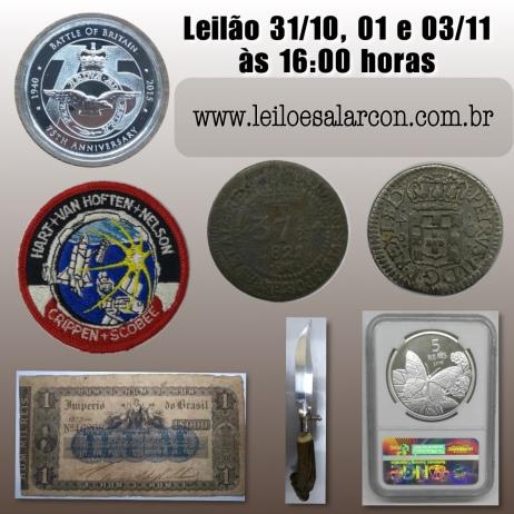 LEILÃO DE FILATELIA, NUMISMATICA E COLECIONÁVEIS - CIA DO COLECIONADOR
